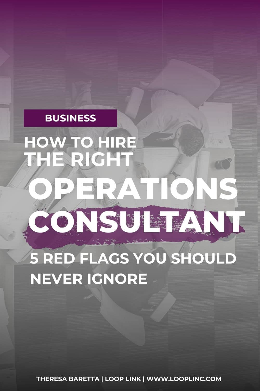 How to hire the right operations consultant